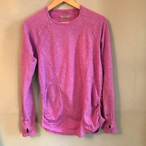Athleta Long sleeve fri fit ruched thumbhole top